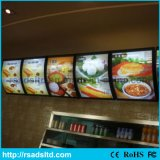 Fast Food Alumínio LED Light Box Billboard