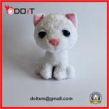 Giocattolo bianco del cane di giocattolo del gatto della peluche dei grandi occhi