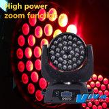 Haut de vente LED 36x10W Déplacement de la tête avec fonction de zoom (QC-LM023)
