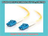 Jaune 3.0mm Zipcord LC à fibre optique monomode câble SMF assemblée