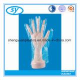 Guanti trasparenti di plastica