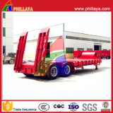 Phillaya Made 1-2 Eixos 20-40 Tons Lowbed Truck Semi-reboque
