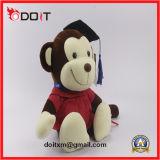 Doutor enchido luxuoso Macaco Graduação Macaco Brinquedo do presente da graduação