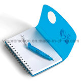 Custom Spiral PP Cover Notebook avec stylo pour Business Gift (PPN227)