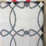 Плитки белого цвета водоструйные, мраморный мозаика стены для сбывания