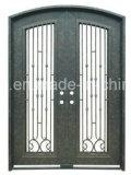 装飾用の鉄エントリガラスのドア