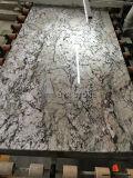 Brame bleue neuve de marbre de glace pour la partie supérieure du comptoir, décoration de mur