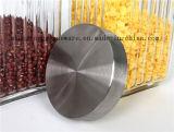 Recipiente de vidro de /Glass do tanque de armazenamento do frasco/Kitchenware/vidro modelado do armazenamento da amostra livre com tampa do metal