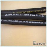 SAE 100r2at/En 853 2sn를 위한 2선식 끈목 호스
