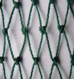 매듭을 짓는 녹색 PP/PE 스포츠 안전망을 그물로 잡기