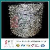 Materia Prima de grado militar verde Barb Wire/Navaja Galvanizado Alambre de púas