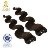 페루 머리 연장 바디 파 Virgin 머리 직물 브라운 색깔 도매