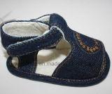 Сандалии 1165 младенца ткани джинсыов