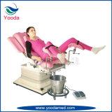 Mesa de exame de ginecologia hospitalar com suporte de perna