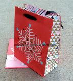 Bolsa de papel promocional del regalo de la Navidad con la maneta