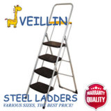 Household d'acciaio Ladder con Plastic Step e Tools Tray