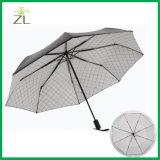 فائقة قوّيّة يطوي ثلاثة يدويّا مظال مطر مظلة إطار تغطية مظلة