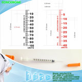 Ultra Fine Needle 0.5ml를 가진 개인적인 Use Insulin Syringe