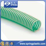 Colorido PVC reforzado espiral de succión en polvo manguera de jardín de agua