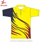 Camicia di Shirtst di polo di polo di stampa dello schermo di buona qualità di Healong