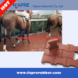 23mm Thickness Red Face犬Bone Pavers Rubber Brick Tile