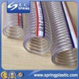Manguito reforzado trueno transparente del PVC