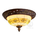 Glass Shade (92675-2)를 가진 유럽식 Resin Ceiling Lamp