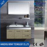 ミラーとの標準的な壁に取り付けられたステンレス鋼の浴室の虚栄心