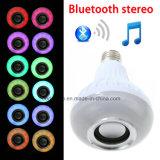 12W de Bol van RGB E27 Slimme LEIDENE Spreker van Bluetooth met de Draadloze Speler van de Muziek en Ver Controlemechanisme