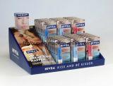 Zoll-freie stehende kosmetische Pappbildschirmanzeige-Fußboden-Pappbildschirmanzeige-Zahnstangen-kosmetische Papierbildschirmanzeige