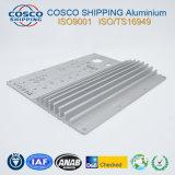 CNCの機械化を用いる6063-T5アルミニウムLEDの脱熱器