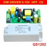 8-22W Lichte van het hoofd 0-10VComité Dimmable Bestuurder met Ce 5 Jaar van de Garantie QS1202