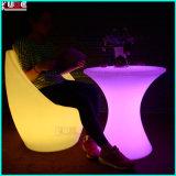 저장 유리제 상단 LED 테이블을%s 가진 빛을내는 테이블