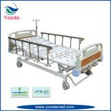 ثلاثة عمل مستشفى يدويّة سرير طبيّة مع قندس مركزيّ