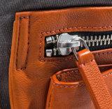 Популярные дизайн пользовательских воск Canvas кожаные школы рюкзак для студентов