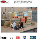 Kohlenstoffarmer Stahl-Tief-legierter Stahl-Schweißens-Draht Er70s-6