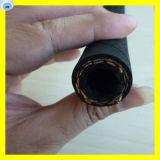 Boyau hydraulique tressé de la fibre R3 deux à haute résistance de SAE 100