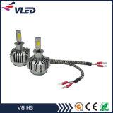 Peças de automóvel perfeitas do farol do diodo emissor de luz de V8 H3 do feixe luminoso