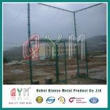 Cercado de cadenas recubierto de PVC galvanizado/Precio de la cadena de diamante de esgrima Enlace