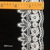 10cmの白い婚礼衣裳のレースは花のレースのトリムのケーキのレースのリボンHmhb892を刺繍した