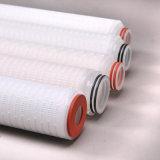 Cartouche filtrante plissée par siège potentiel d'explosion de processus de membrane