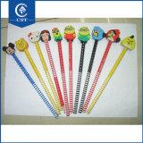 Flexible de différents animaux mignonsCrayon avec gomme pour les étudiants d'approvisionnement