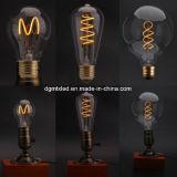 Lumière d'ampoule molle du filament DEL avec la décoration légère spiralée de la forme 4W de coeur