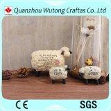 Figura domestica casella delle pecore della decorazione della resina di risparmio dei soldi della resina della Banca di moneta di disegno