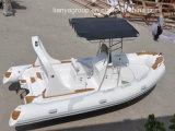 Bote inflável do console de centro do barco do reforço de Liya 19feet Hypalon
