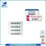 Стикеры ярлыков Barcode похищения цены по прейскуранту завода-изготовителя анти-