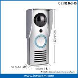 Doorbell sem fio impermeável da câmera, telefone video da porta com áudio em dois sentidos