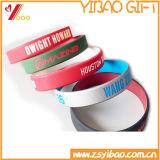 Bracelet fait sur commande de silicones de qualité avec propre logo