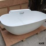 Черный акриловый твердой поверхности отдельно стоящая ванна