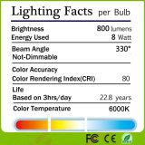 Rétro ampoule de filament de 4W 6W 8W E27 DEL pour la mémoire de livre à la maison de café